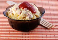 Potato with mayonnaise Stock Images