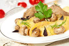 Potato Meat And Mushrooms Royalty Free Stock Photo