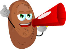 Potato with megaphone Royalty Free Stock Photo
