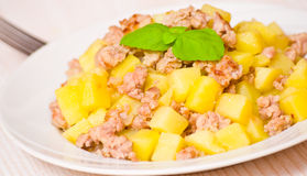 Potato with minced meat Royalty Free Stock Photo
