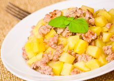 Potato with minced meat Royalty Free Stock Image