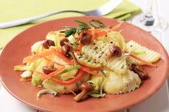 Potato and mushroom salad Royalty Free Stock Photo