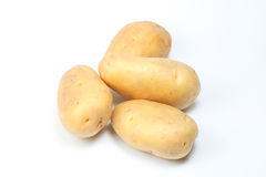 Potato new fresh. Red yellow on white background Stock Photo