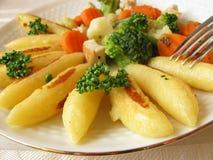 Potato noodle pan Stock Photography