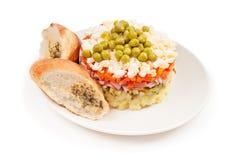 Potato Olivier or russian salad Stock Image