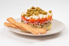 Potato Olivier or russian salad Royalty Free Stock Photo