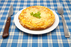 Potato omelet Royalty Free Stock Image