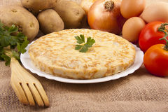 Potato omelette Stock Photography