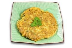 Potato Omlet. Te on white background Stock Photos