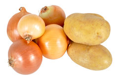 Potato and onion Royalty Free Stock Photos