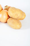 Potato and onion Stock Images
