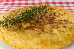 Potato and onion omelette Stock Photography