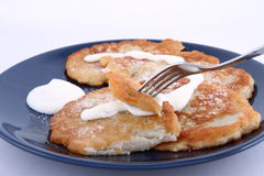 Potato pan cakes Royalty Free Stock Photo