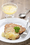 Potato pancake with bramley apple sauce Stock Image