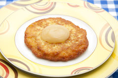 Potato pancake brown baked Royalty Free Stock Photo