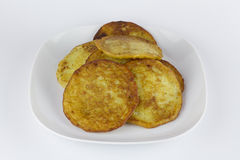 Potato pancake or Kartoffelpuffer Royalty Free Stock Photo