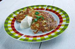 Potato pancake  latkes Stock Images