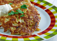 Potato pancake  latkes Royalty Free Stock Photos
