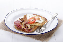 Potato pancake on a plate Royalty Free Stock Photo