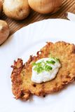 Potato pancake Stock Photo