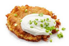Potato pancake on white background Stock Images