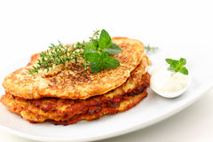 Potato pancakes Stock Images
