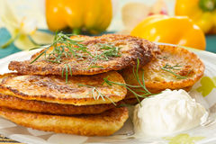 Potato pancakes Royalty Free Stock Photos
