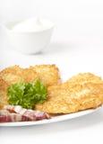 Potato pancakes. In Ukrainian Stock Photos