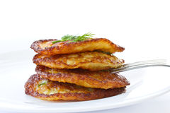 Potato pancakes Stock Photos