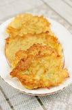 Potato pancakes Stock Photos