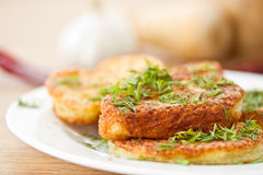 Potato pancakes Royalty Free Stock Image