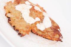 Potato Pancakes Royalty Free Stock Photography