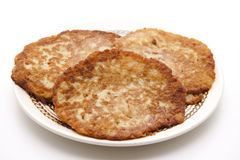 Potato pancakes crisply baked Stock Image