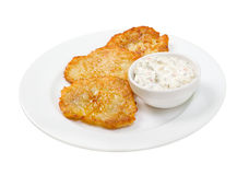 Potato pancakes .dranyc Stock Photo