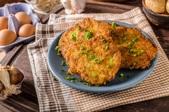 Potato pancakes fried Royalty Free Stock Photo