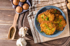 Potato pancakes fried Royalty Free Stock Image
