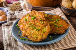 Potato pancakes fried Stock Photos