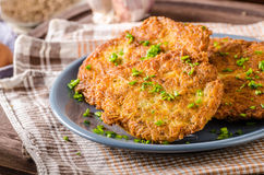 Potato pancakes fried Royalty Free Stock Photography