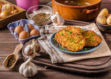 Potato pancakes fried Royalty Free Stock Images