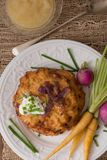 Potato Pancakes for Hannukah : Latkes Royalty Free Stock Image
