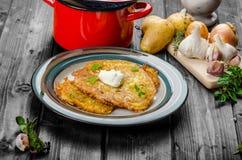 Potato pancakes homemade Royalty Free Stock Photography