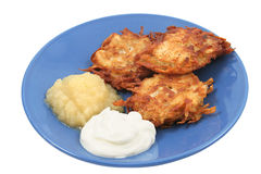 Potato Pancakes Isolated Stock Photography