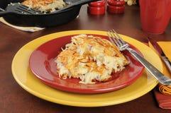 Potato pancakes or latkes Royalty Free Stock Photos