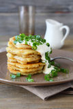 Potato Pancakes On The Plate Royalty Free Stock Images