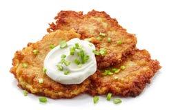 Free Potato Pancakes On White Background Stock Photos - 67605603