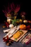 Potato pancakes with pumpkin puree Stock Images