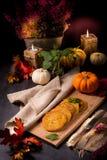 Potato pancakes with pumpkin puree Stock Photography