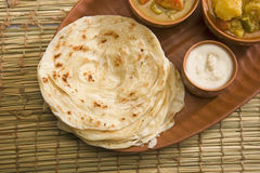 Potato Paratha with Potato Masala Curry Royalty Free Stock Image