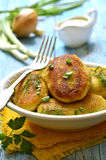 Potato patties with vegetable filling. Royalty Free Stock Image