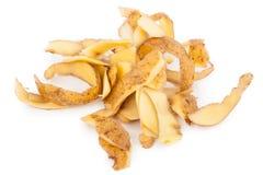 Potato peel. On white background Stock Photography